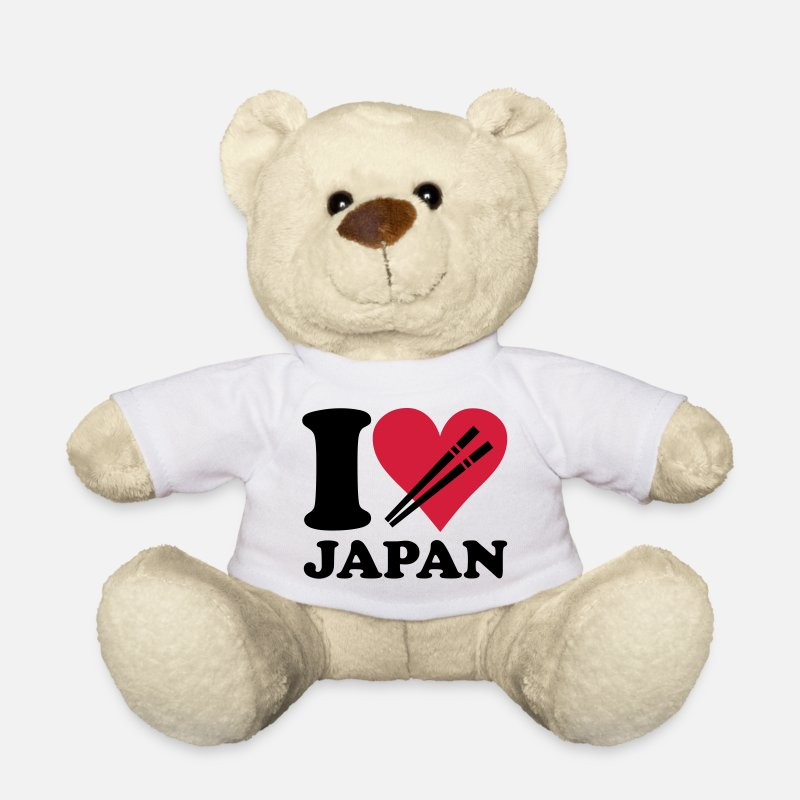 Japan Teddy Bear Toys - Japan - I love Japan - Teddy Bear white