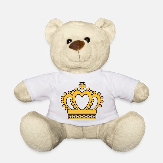 Birthday Teddy Bear Toys - UK - Crown - Teddy Bear white