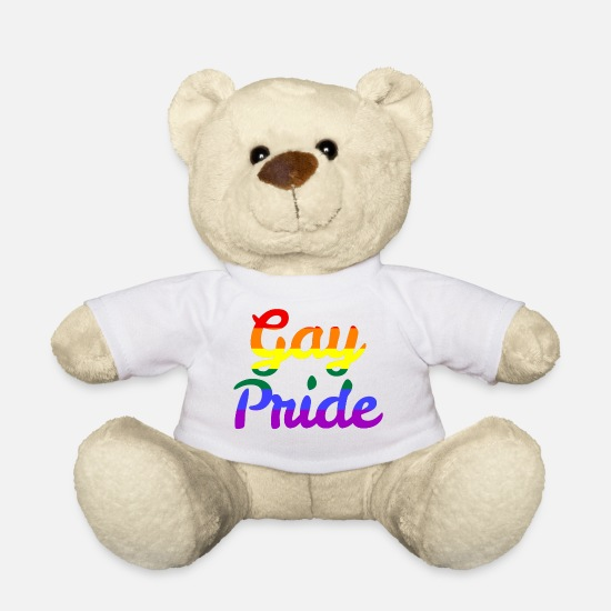 Gay Peluches - Orgullo Gay - Osito de peluche blanco