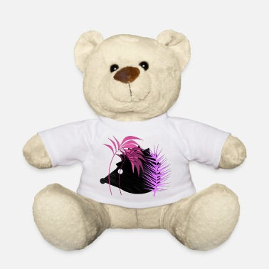 Forest Animal Hedgehog in the forest - animals - forest animals pink purple - Teddy Bear