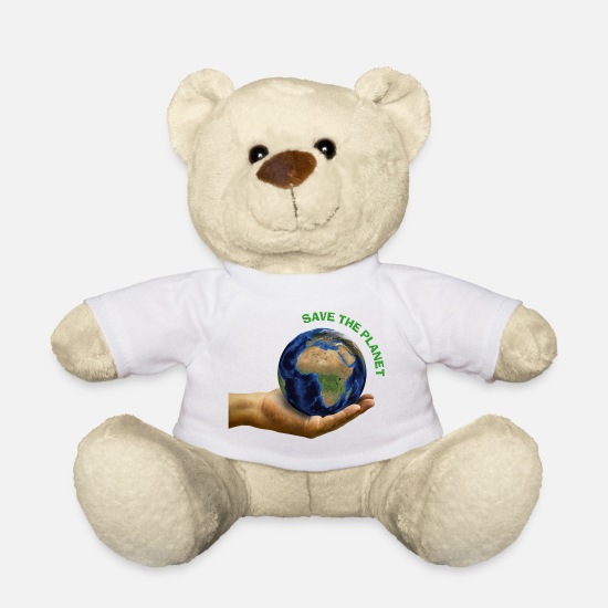 Enviromental Teddy Bear Toys - Save the planet - Teddy Bear white