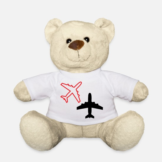 Airplane Teddy Bear Toys - airplanes - Teddy Bear white