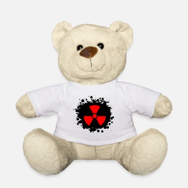 Yellow Radioactivity Symbol Red / red Radioactive, radioactivity symbol - Teddy Bear