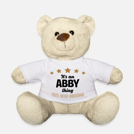 Abby Teddy Bear Toys - It's an abby name thing stars never under - Teddy Bear white