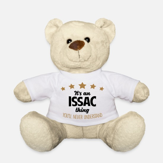 Never Teddy Bear Toys - It's an issac name thing stars never unde - Teddy Bear white
