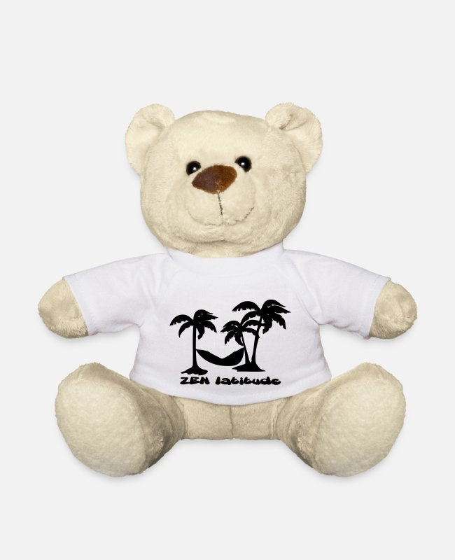 Zen Teddy Bear Toys - zen latitude - Teddy Bear white