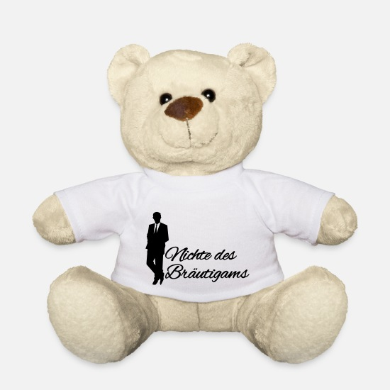 Bride Teddy Bear Toys - Niece of the Groom - Teddy Bear white