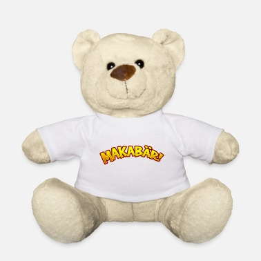 Macabre Funny cartoon macabre macabre lettering - Teddy Bear