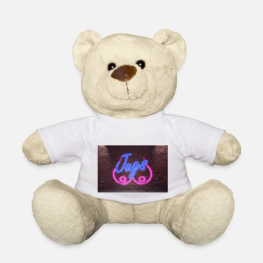 Jug Neon Lettering Jugs on Brick Wall Poster - Teddy Bear