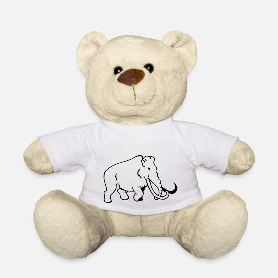 Forest Teddy Bear Toys - Mammoth - Teddy Bear white