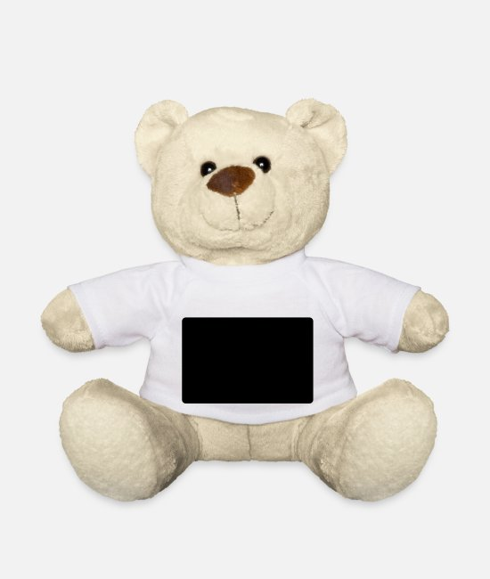 Hello Teddy Bear Toys - hello my name is aaron - Teddy Bear white