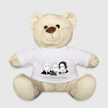 Bach - Mozart - Beethoven in chibi style - Teddy Bear