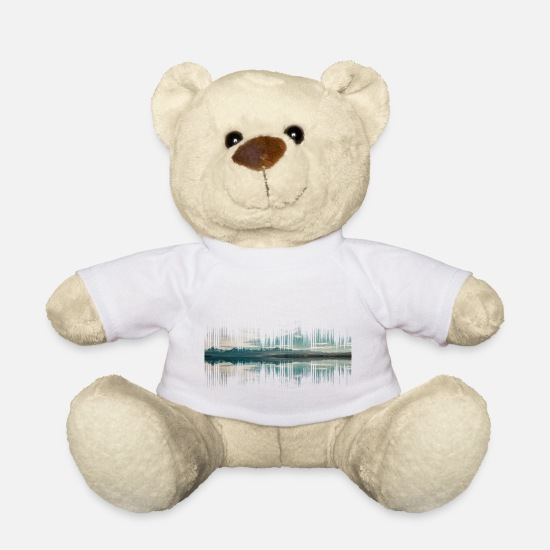 New Zealand Teddy Bear Toys - Audio New Zealand Music Gift - Teddy Bear white