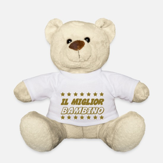 Humour Peluches - Il miglior bambino - Ours en peluche blanc