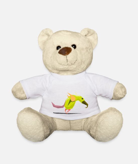 Father's Day Teddy Bear Toys - Bird / bird illustration - Teddy Bear white