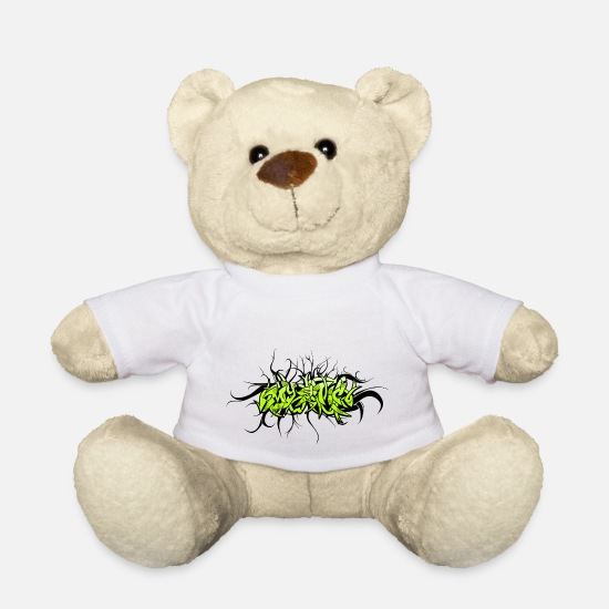 Graffiti Teddy Bear Toys - graffiti mystic - Teddy Bear white