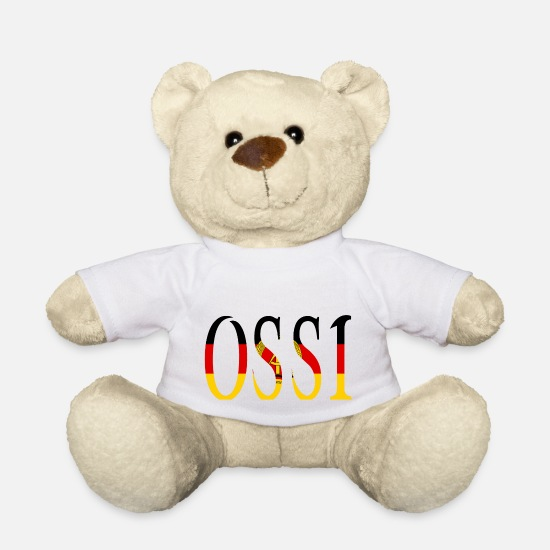 Ostalgie Teddy Bear Toys - Easterner - Teddy Bear white
