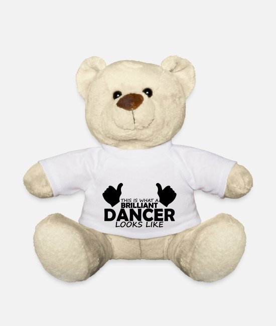 Brilliant Teddy Bear Toys - brilliant dancer - Teddy Bear white