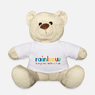 Rainbow - Favorite Color - Typography - Teddy Bear
