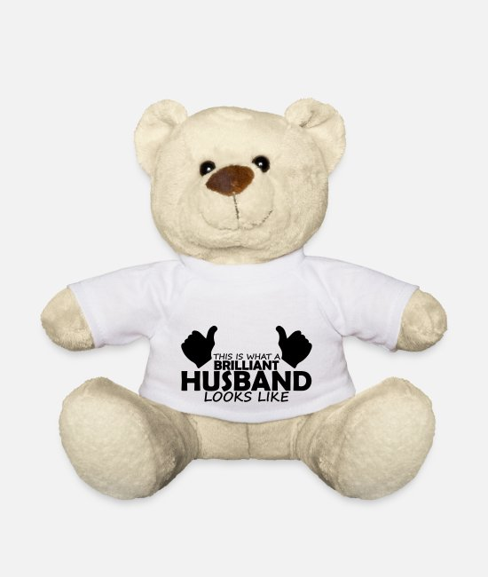 Brilliant Teddy Bear Toys - brilliant husband - Teddy Bear white