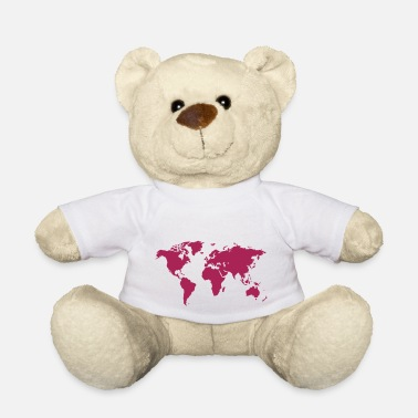 Global Carte du monde - Ours en peluche