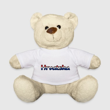 Hrvatska lettering in red-white-blue - Teddy Bear