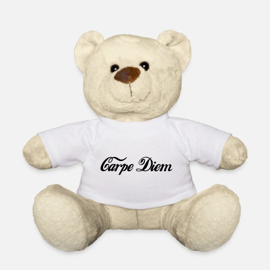 Zen Teddy Bear Toys - carpe diem - Teddy Bear white