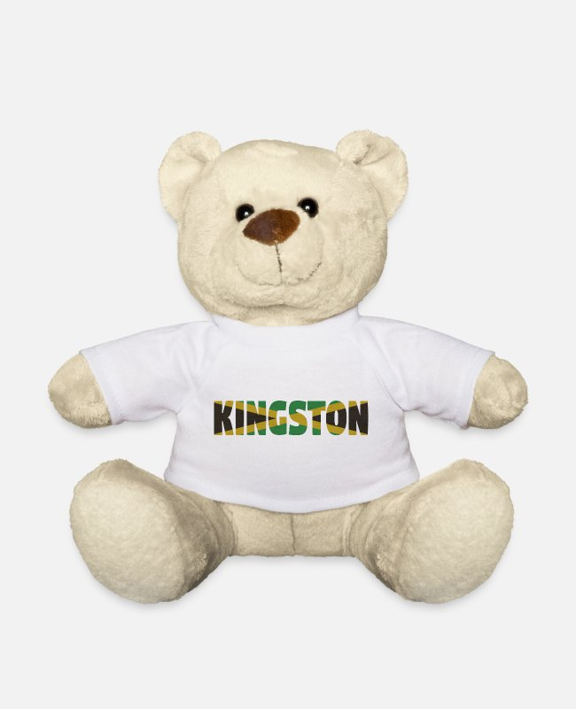 Rasta Teddy Bear Toys - Kingston Jamaica - Teddy Bear white