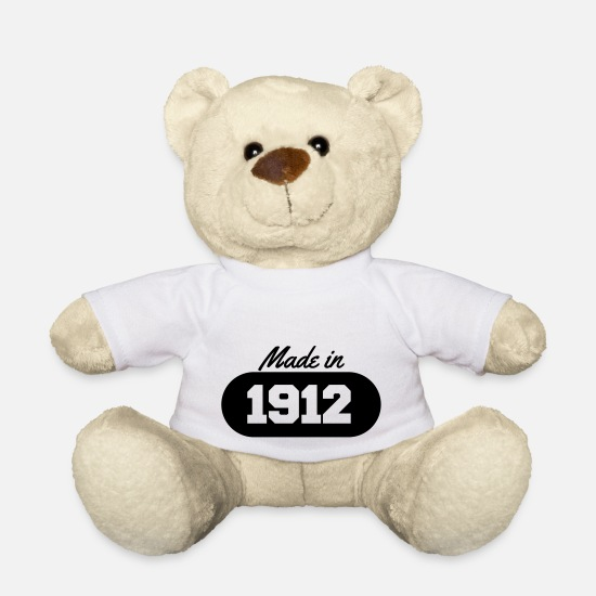 Date Teddy Bear Toys - Made in 1912 - Teddy Bear white