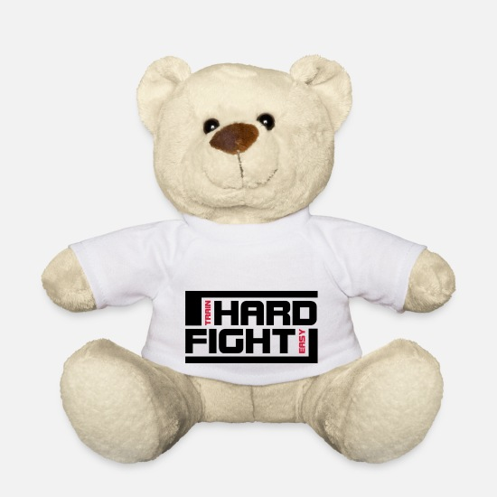Mma Teddy Bear Toys - hard fight - Teddy Bear white