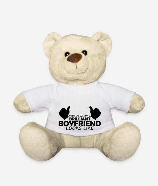 Brilliant Teddy Bear Toys - brilliant boyfriend - Teddy Bear white