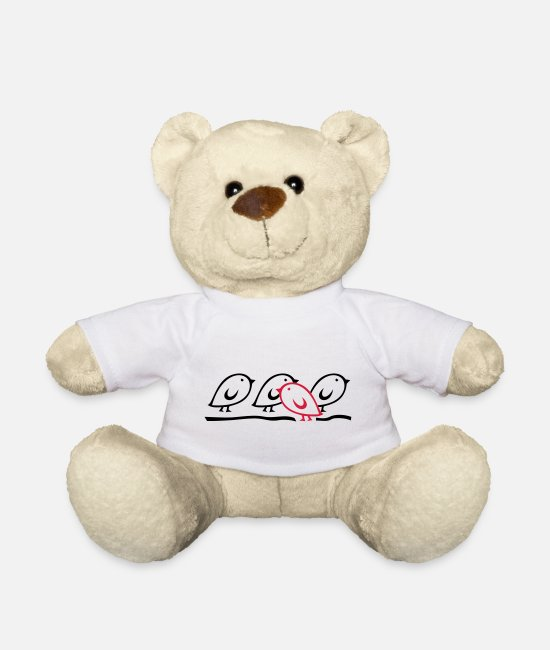 Independent Teddy Bear Toys - TWEETLERCOOLS - Against the Current - Teddy Bear white