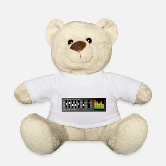 Dance Teddy Bear Toys - graphic_equalizer - Teddy Bear white