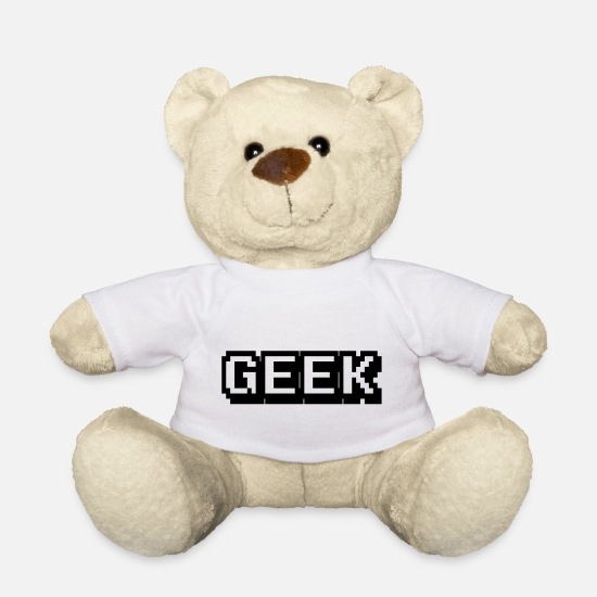 Apple Teddy Bear Toys - Geek - Teddy Bear white
