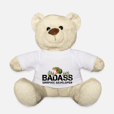 Software Engineers BADASS GRAPHIC DEVELOPER T-REX GRAPHIC DEVELOPER - Teddy Bear