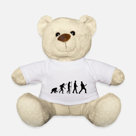 Guitar Teddy Bear Toys - evolution_rocks_032012_a1c - Teddy Bear white