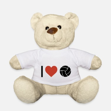 Sports I heart volleyball sport - Teddy Bear