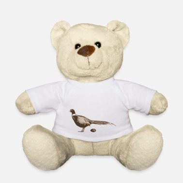 Pheasant Pheasant with a T-shirt - Teddy Bear