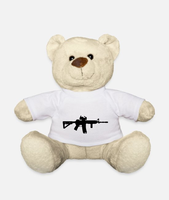 Gun Teddy Bear Toys - M4 - Assault Rifle - Teddy Bear white
