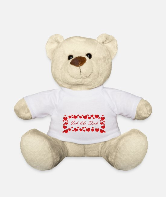 Heart Teddy Bear Toys - I love you valentines day - Teddy Bear white