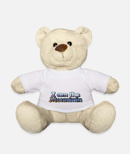 Mountains Teddy Bear Toys - I am the mountain - Teddy Bear white