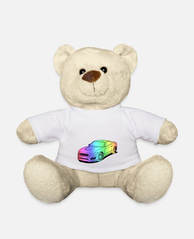 V8 Knuffeldieren - colourful - Teddybeer wit