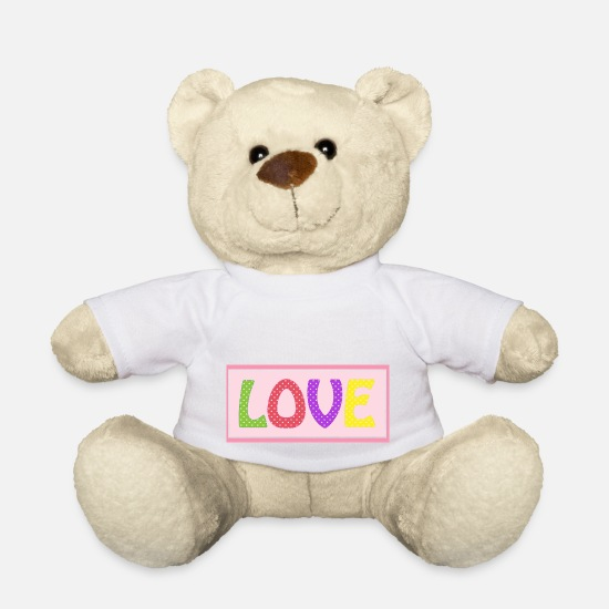 Love Teddy Bear Toys - Love 1 - Teddy Bear white