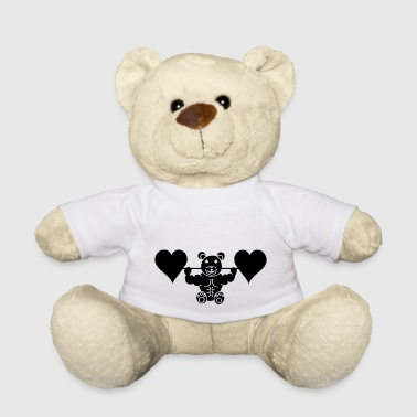 Dumbbell Muscle teddy with heart dumbbell - Teddy Bear