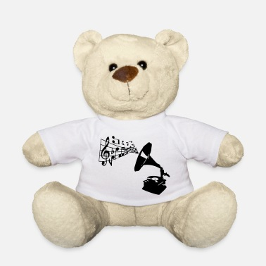 Phonograph gramophone_music notes - Teddy Bear