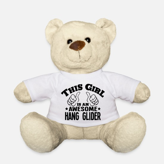 Hang Teddy Bear Toys - this girl is an awesome hang glider - Teddy Bear white