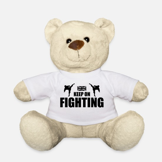 Mma Teddy Bear Toys - Keep On Fighting UK - Teddy Bear white