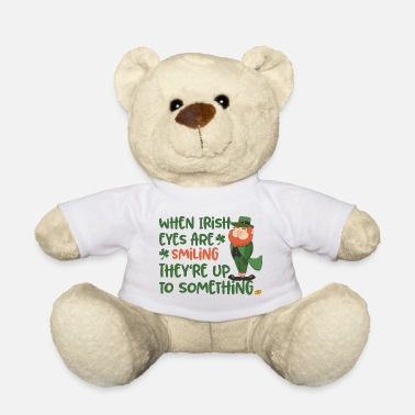Lucky Charm Irish eyes shine - Irish leprechaun - Teddy Bear