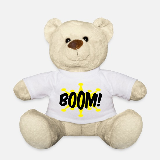 Boom Teddy Bear Toys - comic - Teddy Bear white