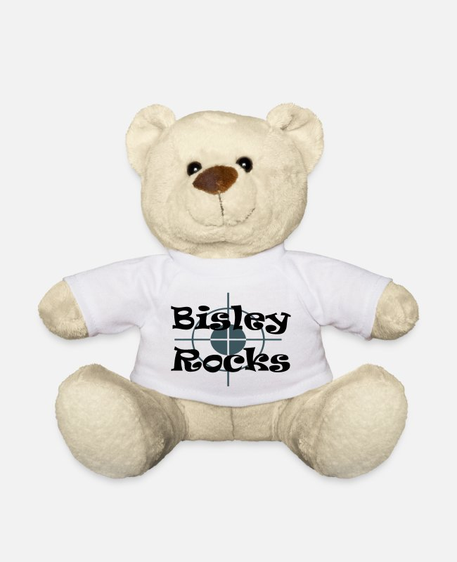 Gun Teddy Bear Toys - Bisley Rocks - Teddy Bear white